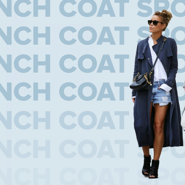 Trench coat sporty